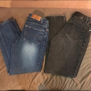 "2 pair faded glory ""mom"" style jeans"